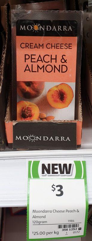 Moondarra 120g Cream Cheese Peach & Almond