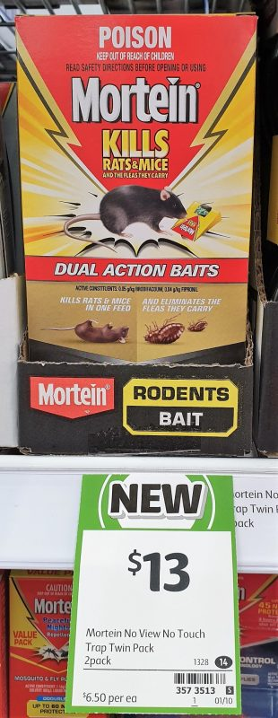 Mortein 2 Pack Baits Dual Action Kills Rats & Mice
