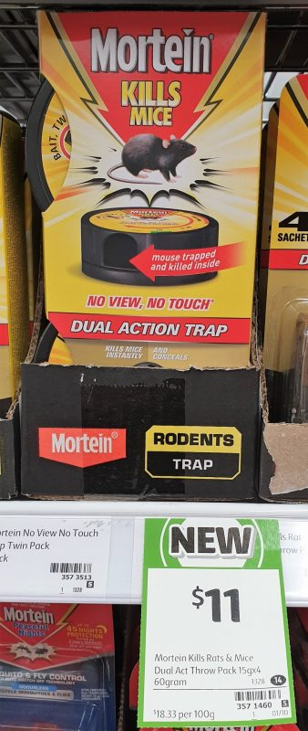 Mortein 4 Pack Dual Action Trap Kills Mice