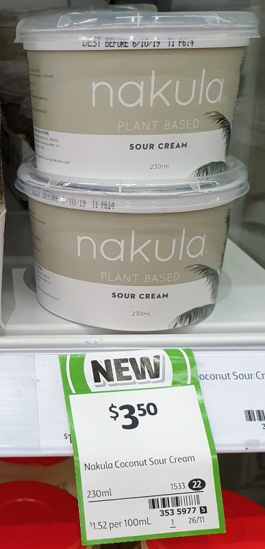 Nakula 230mL Plant Based Sour Cream