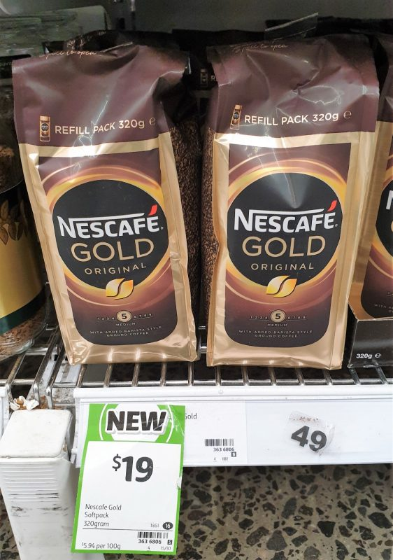 Nescafe 320g Gold Coffee Refill Pack Original