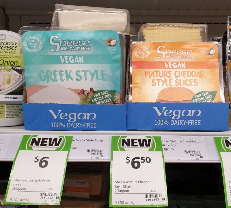 Sheese 200g Vegan Feta Greek Style, Cheddar Style Slices