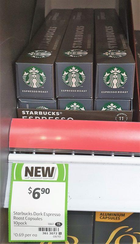 Starbucks 10 Pack Capsules Espresso Roast