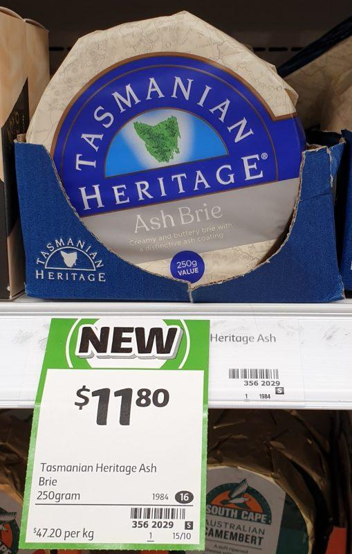 Tasmanian Heritage 250g Ash Brie