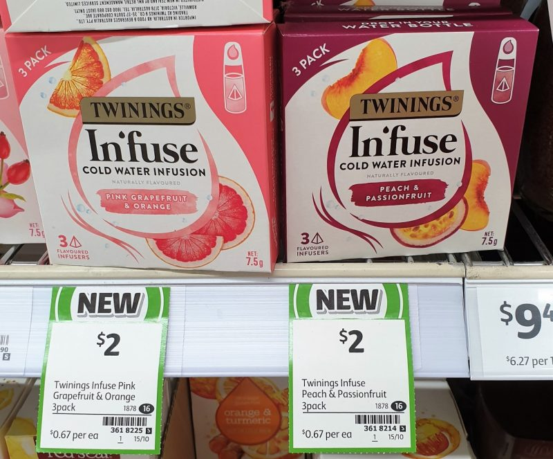 Twingings 7.5g Infuse Pink Grapefruit & Orange, Peach & Passionfruit