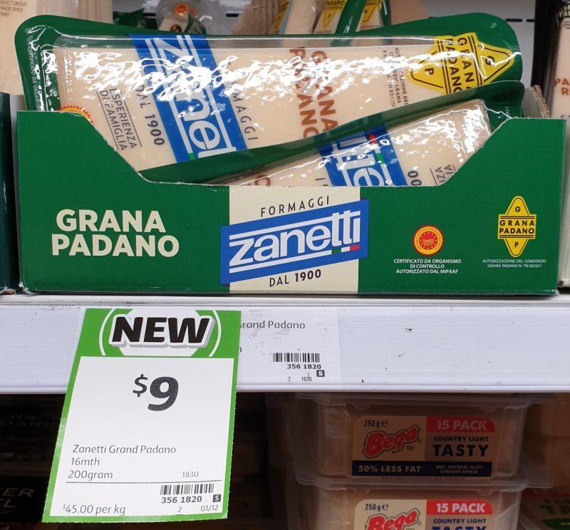 Zanetti 200g Grand Padano