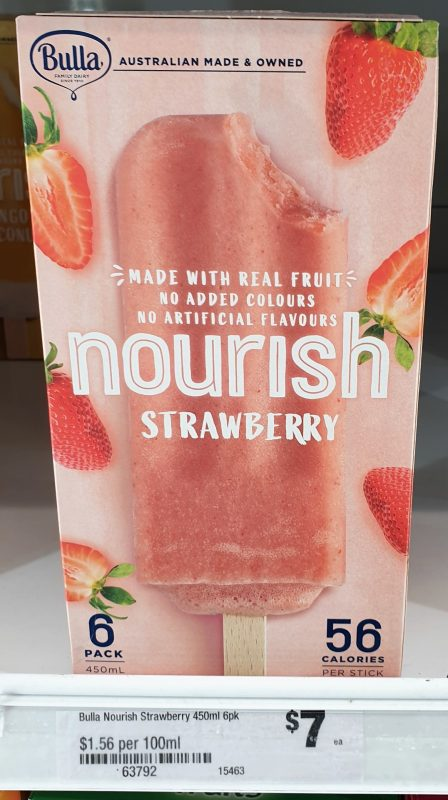 Bulla 450mL Nourish Strawberry
