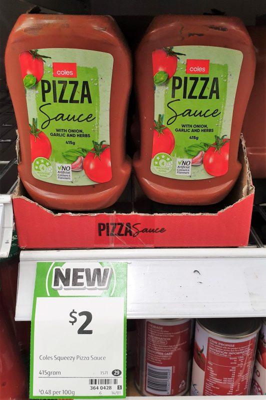 Coles 415g Sauce Pizza