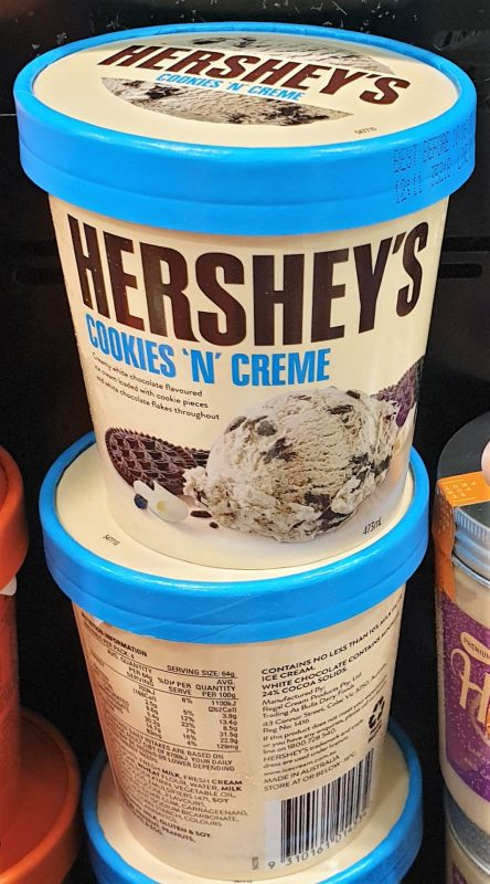 Hershey's 473mL Ice Cream Cookies 'N' Creme