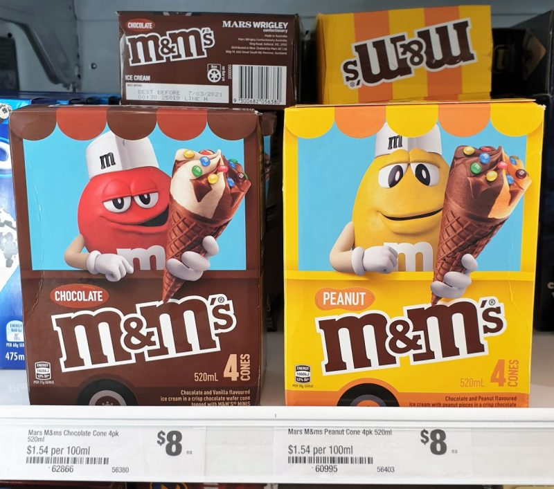 Mars 520mL M&M's Ice Cream Cones Chocolate, Peanut