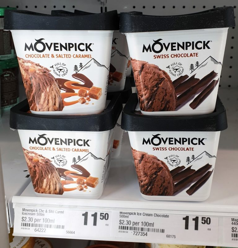 Movenpick 500mL Ice Cream Chocolate & Salted Caramel, Swiss Chocolate