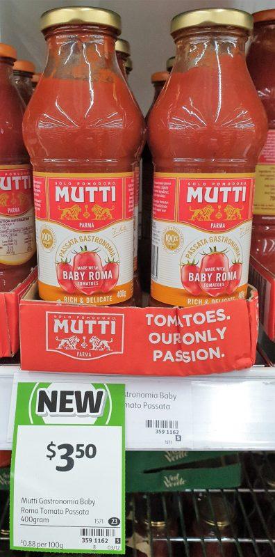 Mutti 400g Passata Gastronomia Baby Roma Tomatos