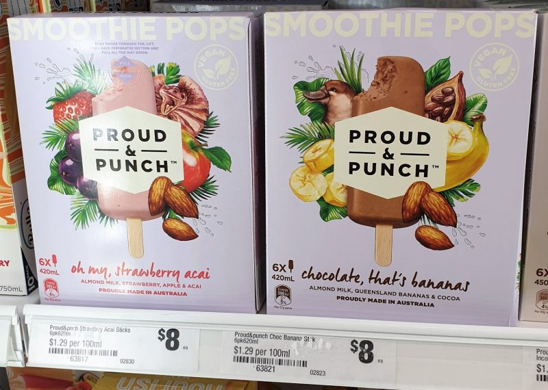 Proud & Punch 420mL Smoothie Pops Strawberry Acai, Chocolate Bananas