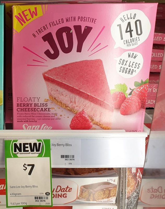 Sara Lee 430g Joy Berry Bliss Cheesecake