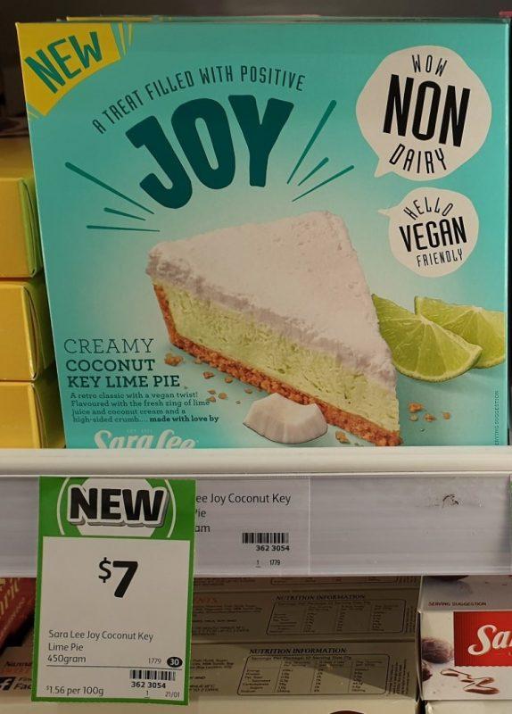 Sara Lee 450mL Joy Coconut Key Lime Pie