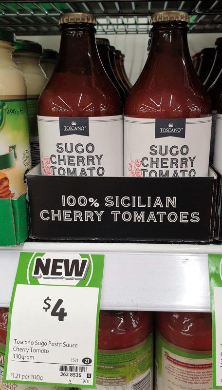 Toscano 330g Pasta Sauce Sugo Cherry Tomato