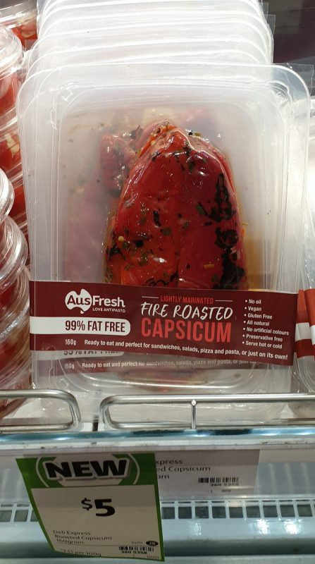 Aus Fresh 160g Capsicum Fire Roasted