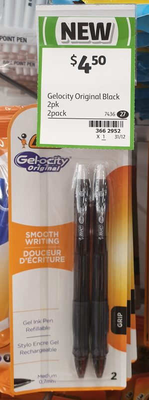 BIC 2 Pack Gelocity Original Gel Ink Black Pen