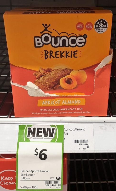 Bounce 150g Breakfast Bar Brekkie Apricot Almond