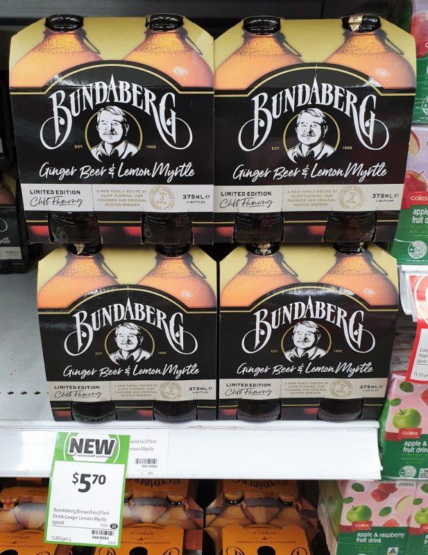 Bundaberg 4 X 375mL Cliff Fleming Ginger Beer & Lemon Myrtle Limited Edition