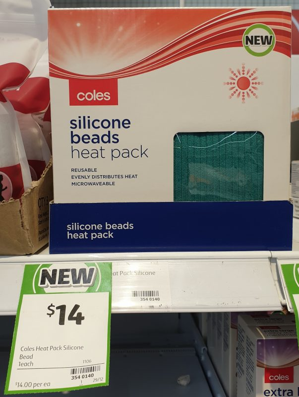 Coles 1 Pack Heat Pack Silicone Beads