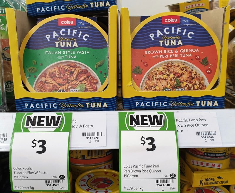 Coles 190g Pacific Tuna Yellowfin Italian Style Pasta With Tuna, Brown Rice & Quinoa With Peri Peri Tuna