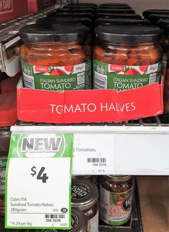 Coles 280g Italian Sundried Tomato Halves