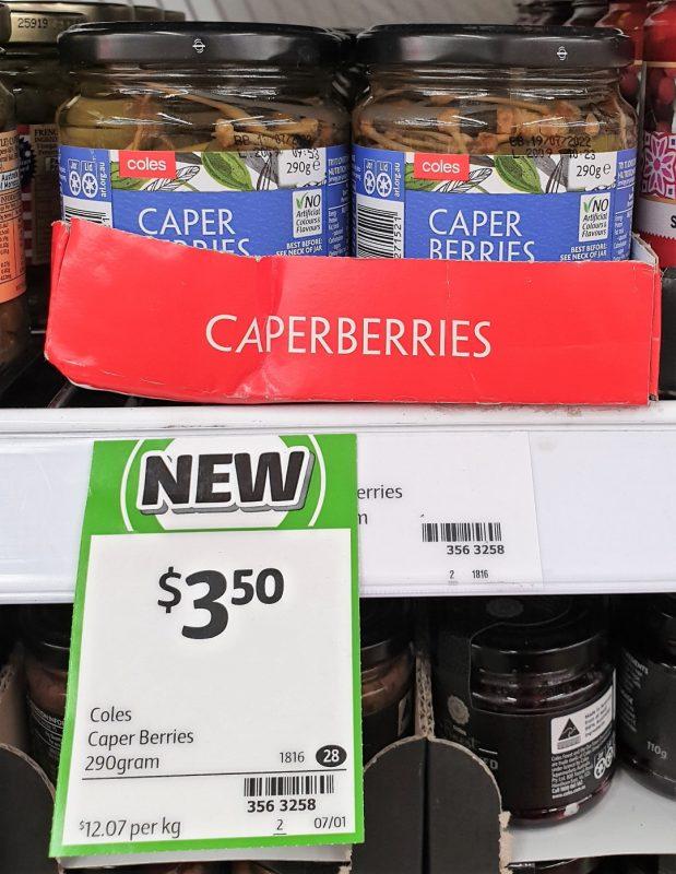 Coles 290g Caper Berries