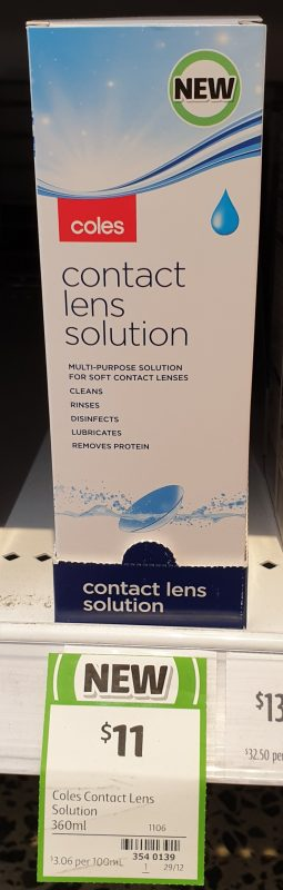 Coles 360mL Contact Lens Solution