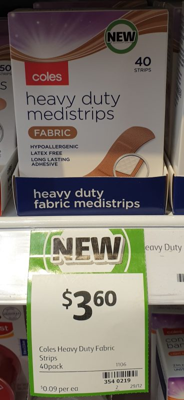 Coles 40 Pack Medistrips Heavy Duty Fabric