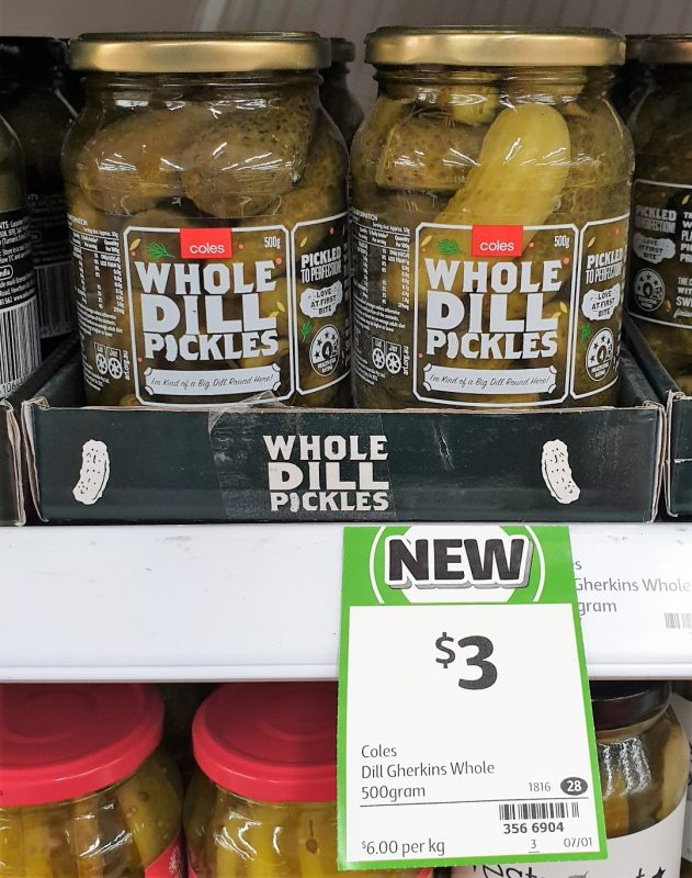 Coles 500g Dill Pickles Whole