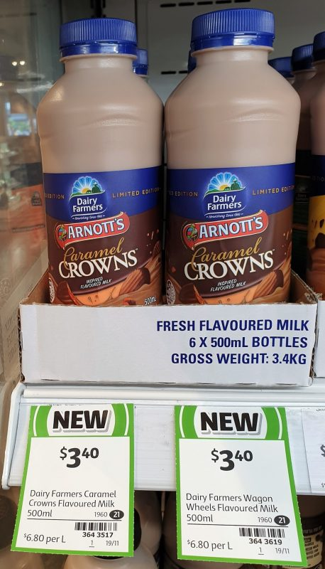 Dairy Farmers 500mL Flavoured Milk Arnott's Caramel Crowns