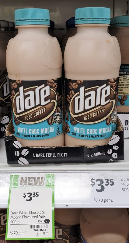 Dare 500mL Iced Coffee White Choc Mocha