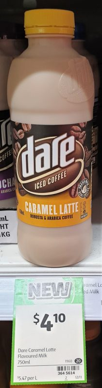 Dare 750mL Flavoured Milk Coffee Caramel Latte