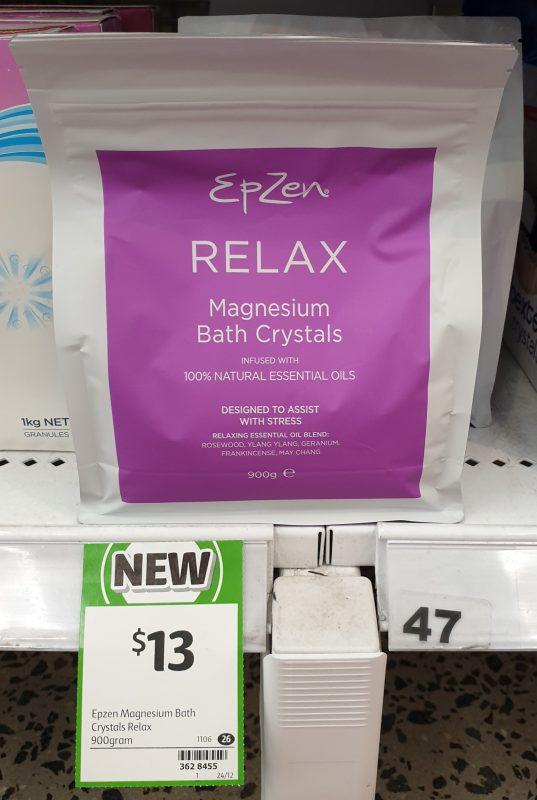 Epzen 900g Magnesium Bath Crystals Relax