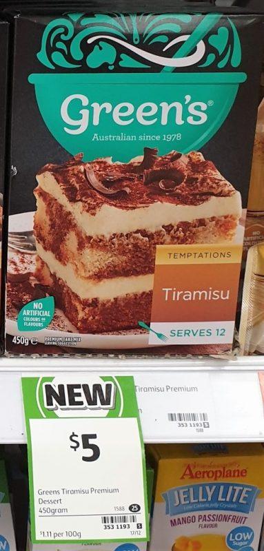 Green's 450g Temptations Tiramisu
