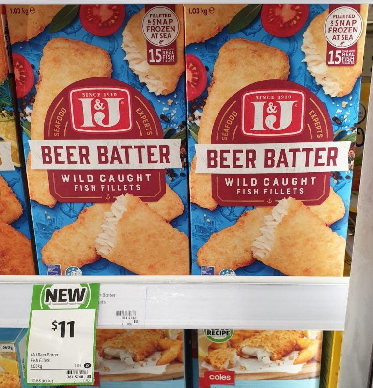 I&J 1.03kg Fish Fillets Beer Batter