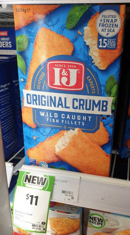 I&J 1.03kg Fish Fillets Original Crumb