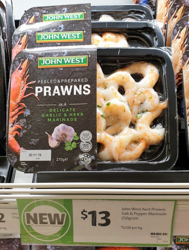 John West 250g Prawns Garlic & Herb Marinade