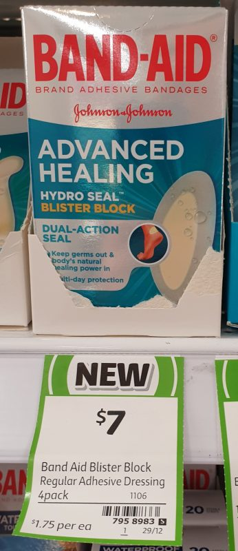 Johnson & Johnson 4 Pack Band Aid Advanced Healing Hydro Seal Blister Block