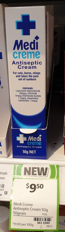 Medi Creme 50g Antiseptic Cream