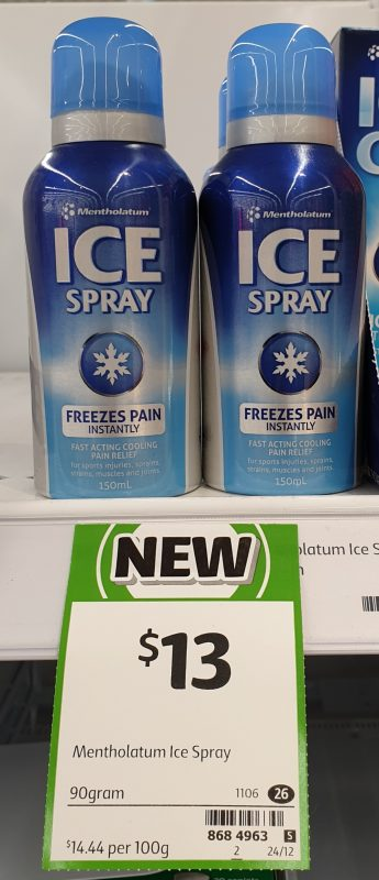 Mentholatum 150mL Ice Spray