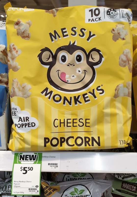 Messy Monkeys 130g Popcorn Cheese