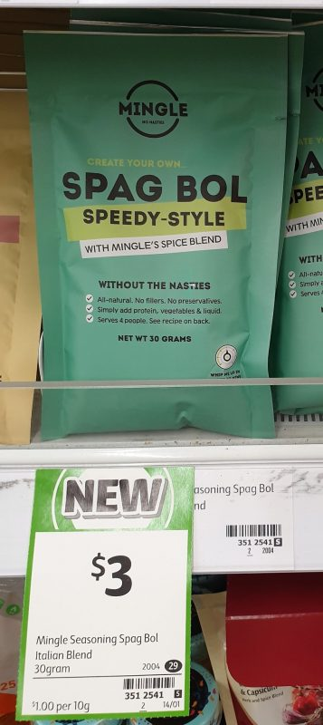 Mingle 30g Spice Blend Spag Bol Speedy Style