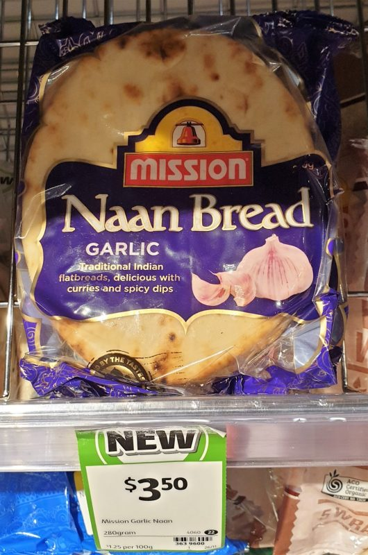 Mission 280g Naan Bread Garlic