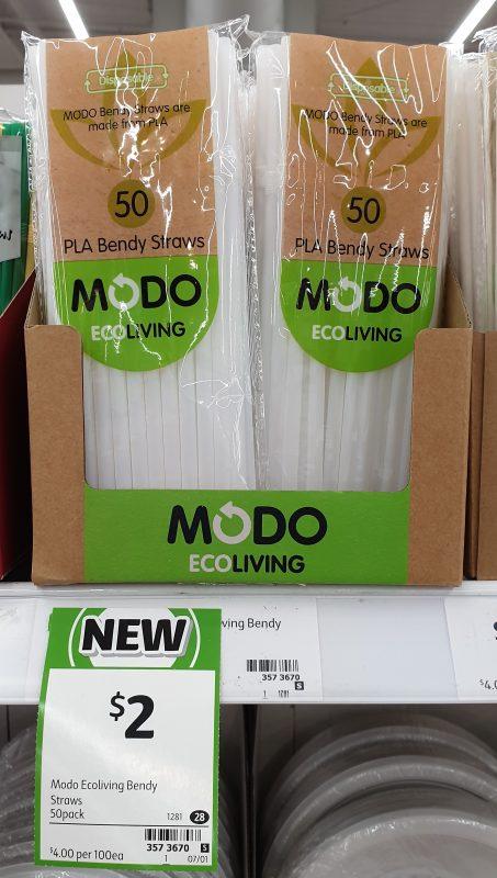Modo Eco Living 50 Pack PLA Bendy Straws