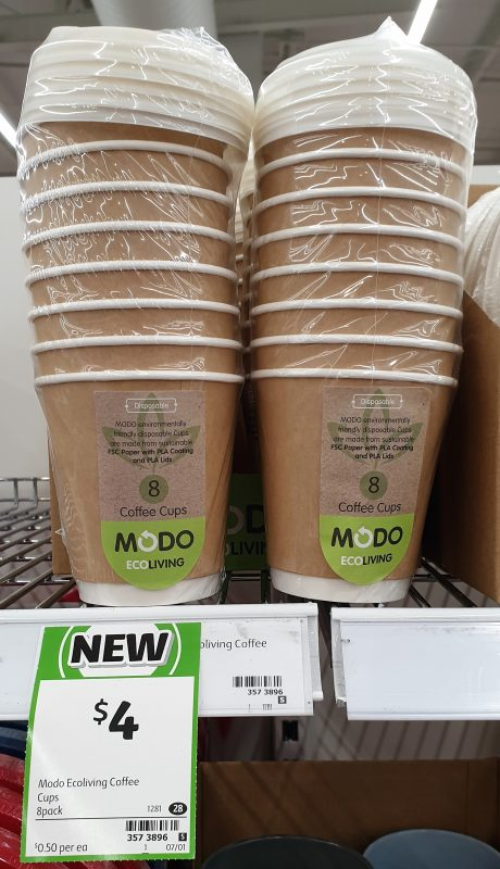 Modo Eco Living 8 Pack Cups Coffee