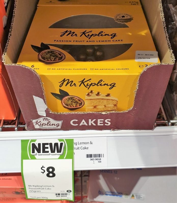Mr Kipling 245g Cake Passion Fruit And Lemon