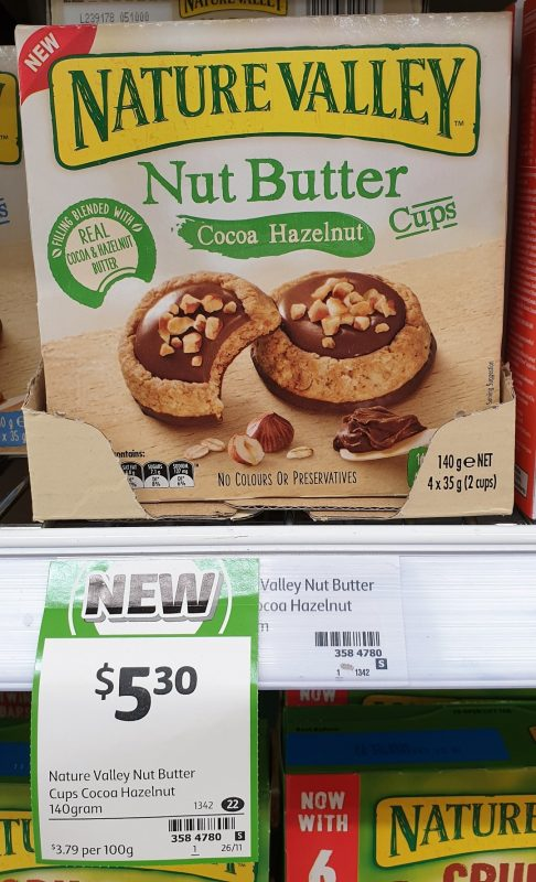 Nature Valley 140g Nut Butter Cups Cocoa Hazelnut