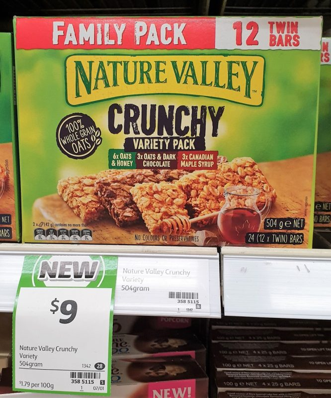 Nature Valley 504g Crunchy Variety Pack